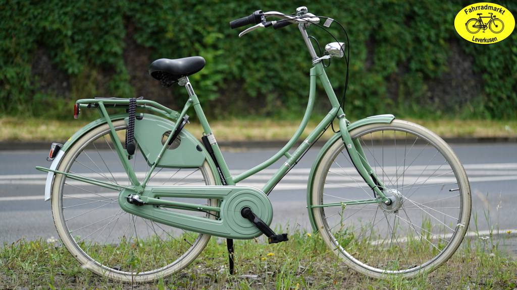 Excelsior Luxus Nostalgie Damen City Fahrrad pale green
